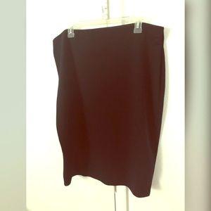 Black Stretchy Pencil Skirt